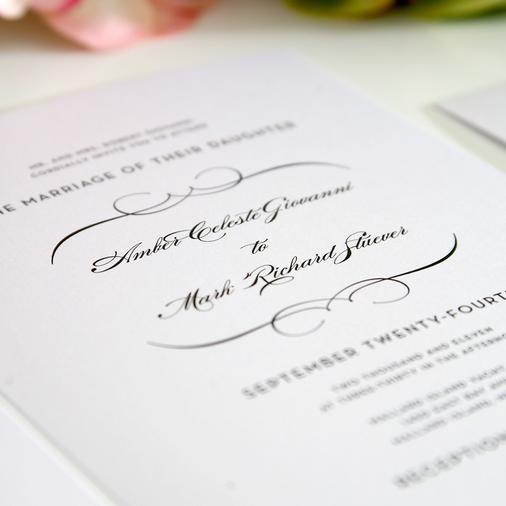 "Wedding Invitation: ""What to Write\"
